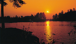 Sunset at an NCA Member Campground in New Hampshire!